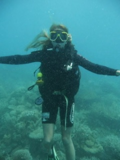 scuba diving, great barrier reef, cairns, australia